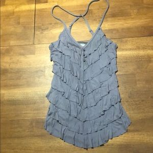 Guess Los Angeles Tank Top Grey Ruffled size Med